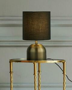 """Touch Bedside Table Brass & Black Lamp Light Night Lighting Home Décor H 11"""""""