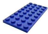 Lego 10 Stück blaue Platte 4x8 3035 Neu Platten in blau Bauplatte Basics City