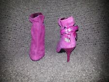 BOURNE UK-Pink Suede DIAMANTE BOW HIGH HEEL-ANKLE BOOTS-Gorgeous-Sz 36-Excellent