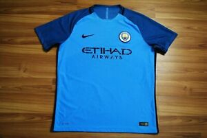 SIZE L MANCHESTER CITY 2016/2017 HOME FOOTBALL SOCCER SHIRT JERSEY NIKE LARGE