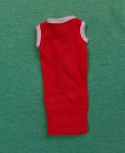 Vintage Barbie Doll Clothes - Vintage Barbie CLONE Red Knit Shift Dress