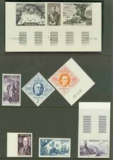 Monaco 1956 FIPEX proofs, high values se-tenant strip