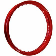 "WARP 9 RIM SET 19"" 21"" RED HONDA CR125 CR250 CR500 CRF250R/X CRF450R/X"