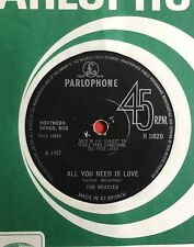THE BEATLES -All You Need Is Love- No TV Reference/Solid Centre UK (Rare Vinyl)