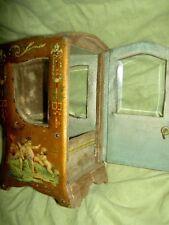 Antique French sedan chair (Verni Martin chaise a porteur) vitrine 4boudoir doll