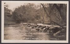 Postcard Exmoor Somerset early view of The Barle at Tarr Steps RP by Vowles
