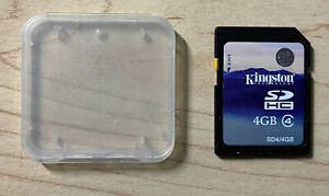 Kingston 4GB SDHC SD C4 Memory Card SD4 for Camera and Camcorder - Excellent!