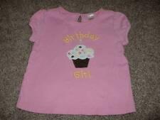 Gymboree Toddler Girls Pink Birthday Girl Shirt Size 2T 2 Spring Summer Top Cute