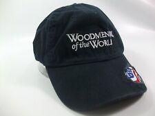 Woodmen of the World USA Flag Hat Blue Hook Loop Baseball Cap