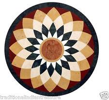 "24"" Marble Round Coffee Table Top Mosaic Inlay Handicraft Design Furniture Decor"