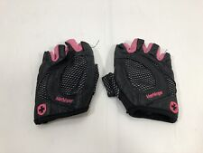 harbinger womens glove size large Black Pink Leather Workout Gym Weight Lift