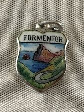 FORMENTOR Silver Travel Shield Enamel Charm
