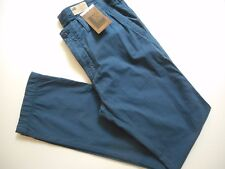 M&s Men's North Coast Jeans Straight Garment Dyed Bright Blue 34w 29l