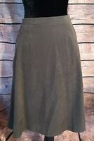 Coldwater Creek Womens Skirt Brown Size 12 Petite Knee Length A Line Polyester