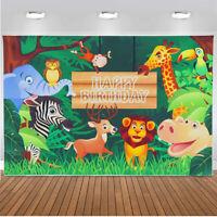 "Photography Background Jungle Animals Photo Backdrop Prop Decor 4.9X3.2/7.2X4.9"""