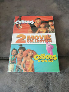 The Croods 1 & 2 A New Age DVD 2-Movie Collection Box Set Brand New