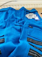 Guess Mens Size 34 Blue Cargo Technical Trousers RefMW11