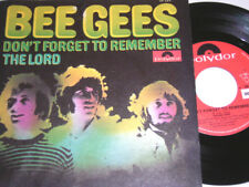 """7"""" - Bee Gees Don´t forget to remember & The Lord - 1969 # 3493"""