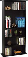 Multimedia Storage Cabinet Stand Tower DVD Rack Shelf Media Book Compact NEW