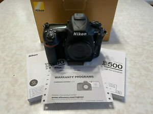 Nikon D500 DSLR Camera Body - Black - MINT CONDITION