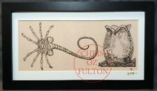 Xenomorph Alien Facehugger HR Giger Framed Print Signed Artist Chris Oz Fulton!!