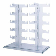 2 Row 10 Pairs Sunglasses Glasses Rack Holder Frame Display Stand Transparent #A