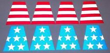 8 FULLY Reflective American Flag Fire Helmet Tetrahedrons Tets Firefighter