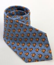 """Crab Neck Tie by Tommy Hilfiger Light Blue w Crab and Star Pattern 60"""" 100% Silk"""