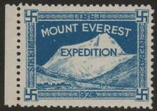 NEPAL/TIBET: 1924 Mount Everest Blue Expedition Label Unmounted Example (35724)