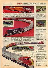 1973 ADVERTISEMENT Tyco Train Table Top Alco Century Santa Fe Diesel Twin Crane