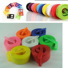 NEW Men's Womens Plain Smooth Silicone Rubber Leather Belt Plastic Buckle PD020