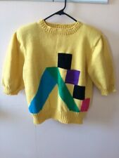 Ladies Hand Made, 100% Belgium Imported Cotton, Yellow Sweater.