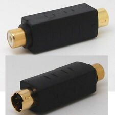 RCA Female Composite to 4pin S-Video svideo Male Adapter  /bx