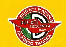 DUCATI MECCANICA Decal / VINYL STICKER motorcycle biker cafe racer honda