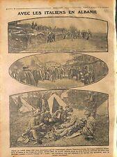 Italia Army Pioneer Road Valona albania Vlora Albanie Général Sarrail 1916 WWI