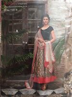 Brand new Floral creation Black anarkali semi stiched dress