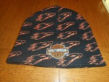 Vintage Harley-Davidson Screamin Eagle  Orange & Black Beanie/Skull Cap One Size