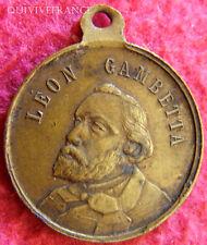 MED2067 - MEDAILLETTE LEON GAMBETTA ELU PRESIDENT 1879