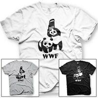 WWF Pandas. World Wrestling Federation. Cage Match. Funny Tshirt - Mult. Colors
