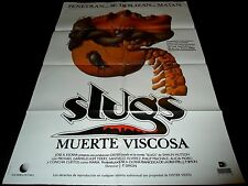 1988 Slugs: The Movie ORIGINAL SPAIN POSTER GORE CAMPY HORROR Muerte Viscosa