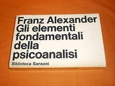 gli elementi fondamentali della psicoanalisi biblioteca sansoni 1969