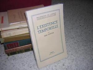 1949.existence temporelle / Jean Guitton.philosophie