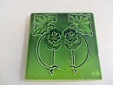 Victorian Ceramic Tile Art Nouveau Architectural Antique Floral Vintage Old