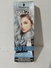 Schwarzkopf Got2b Head Turner Temporary Hair Color Spray 4.2 Fl Oz DENIM BLUE