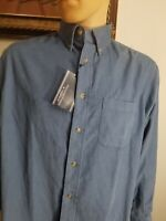 Mens Roundtree & Yorke corduroy shirt M 100% cotton long sleeve button down