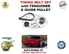 FOR ALFA ROMEO 4C 1.8 241 bhp 2013->on TIMING BELT SET with TENSIONER & GUIDE