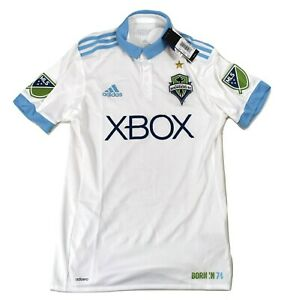 adidas Mens MLS Seattle Sounders FC Football Soccer Authentic Jersey NWT $120 S