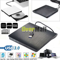 Slim External USB 3.0 DVD RW CD Drive Burner Reader Player For Laptop PC MAC USA