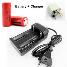 2pcs 26650 3.7V 6000mAh Rechargeable Li-ion Battery with UK Charger Adapter UK