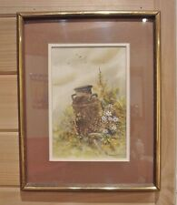 "Watercolor ""OLD RUSTED MILK CAN"" by Wisconsin Artist Gerald Bernhardt"